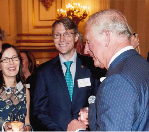 Lars B Andersen receives Queen's Award from Prince Charles at Buckingham Palace
